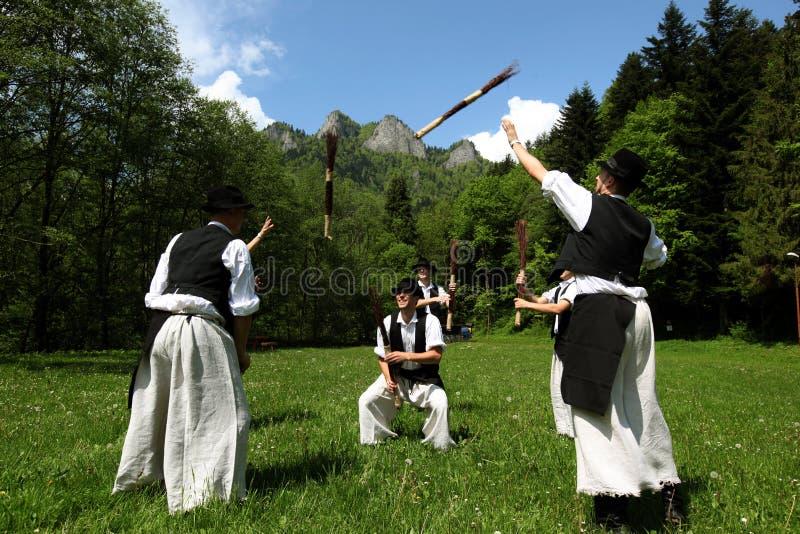 FESTIVAL DE GENS DE L'EUROPE SLOVAQUIE CERVENY KLASTOR images libres de droits