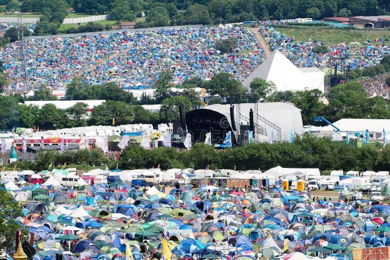 Festival de Glastonbury de los artes imagenes de archivo