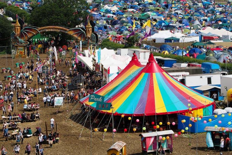 Festival de Glastonbury des arts image libre de droits