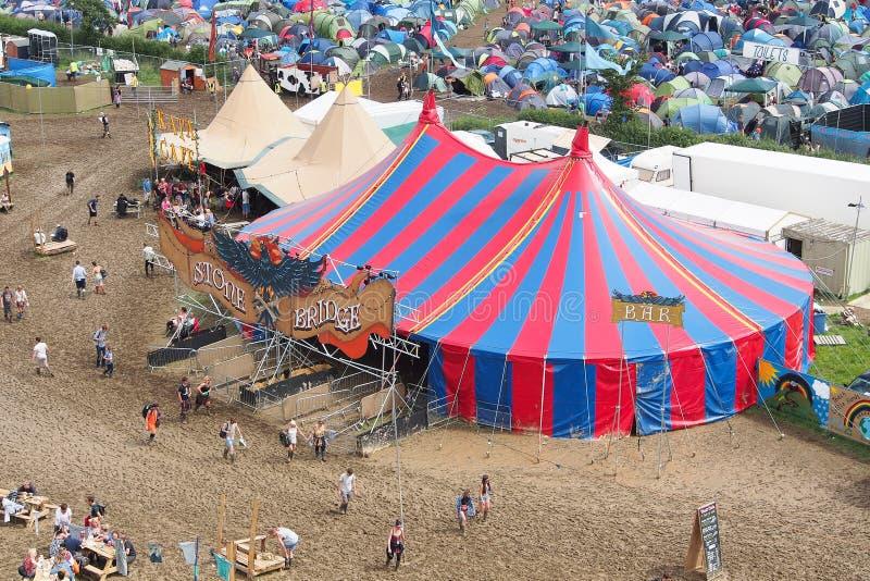 Festival de Glastonbury des arts photo stock