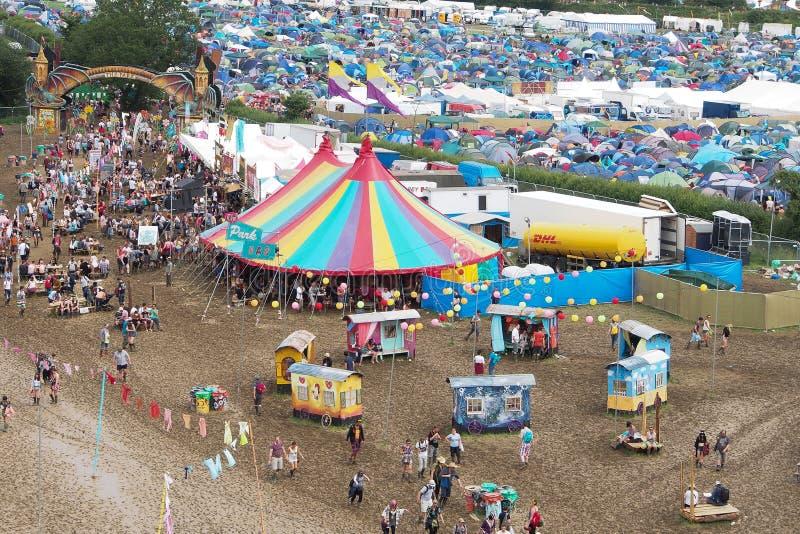 Festival de Glastonbury des arts photo libre de droits