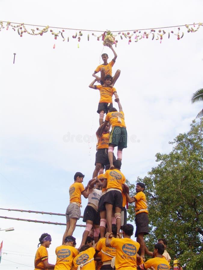 Festival de Govinda em India fotografia de stock