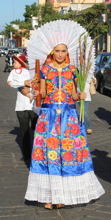 Festival de Guelaguetza, Oaxaca, 2014 images libres de droits