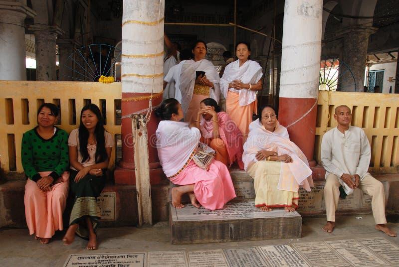 Festival de Holi aux gens de Manipuri photos stock