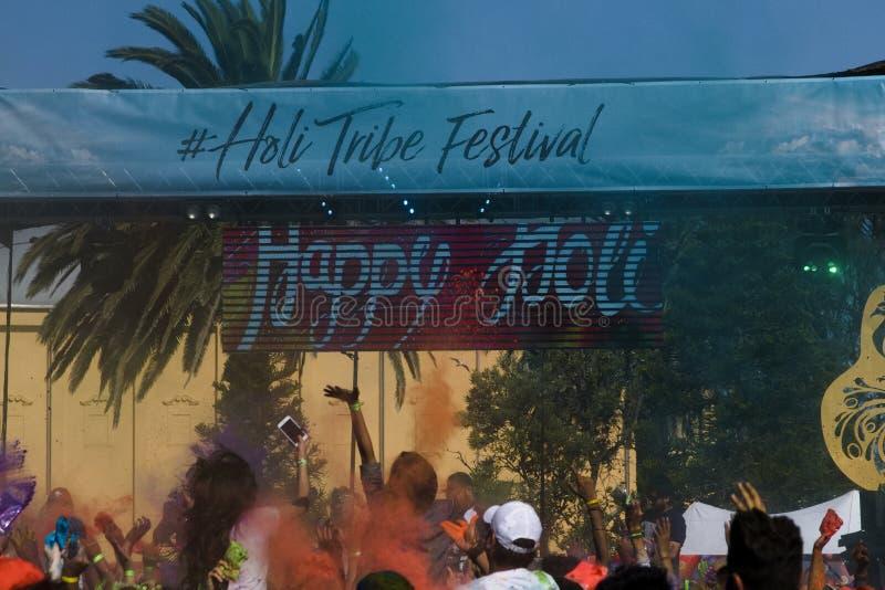 Festival de Holi de couleur à Melbourne, St Kilda photographie stock