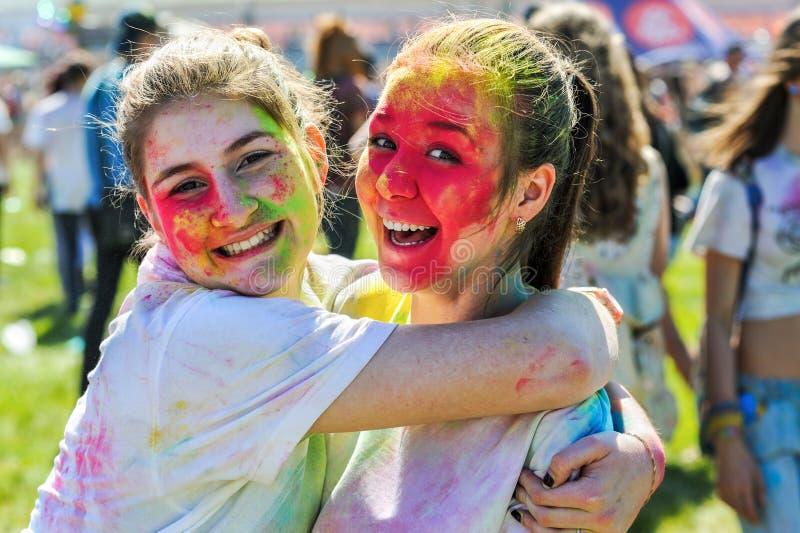 Festival de Holi de couleurs photos libres de droits