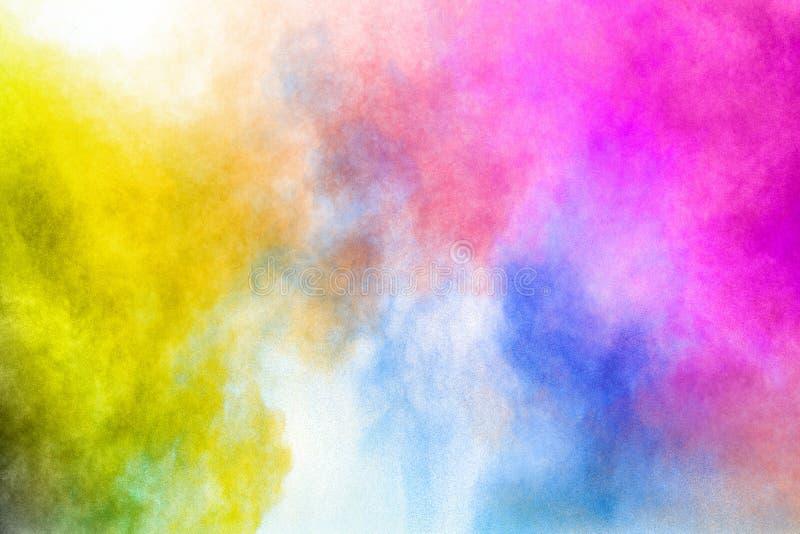 Festival de Holi da cor Explosão colorida para o pó feliz de Holi fotografia de stock royalty free