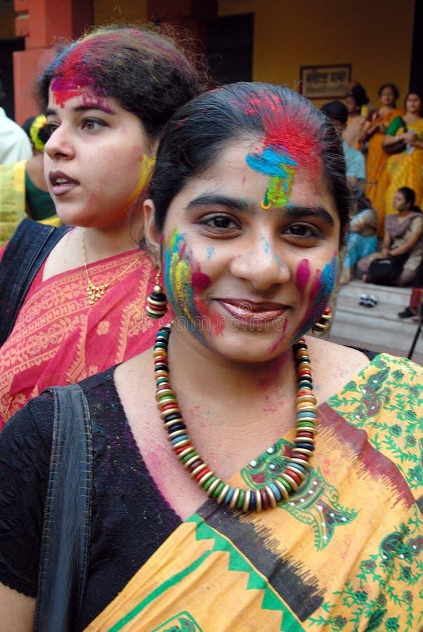 Festival de Holi de couleurs images libres de droits