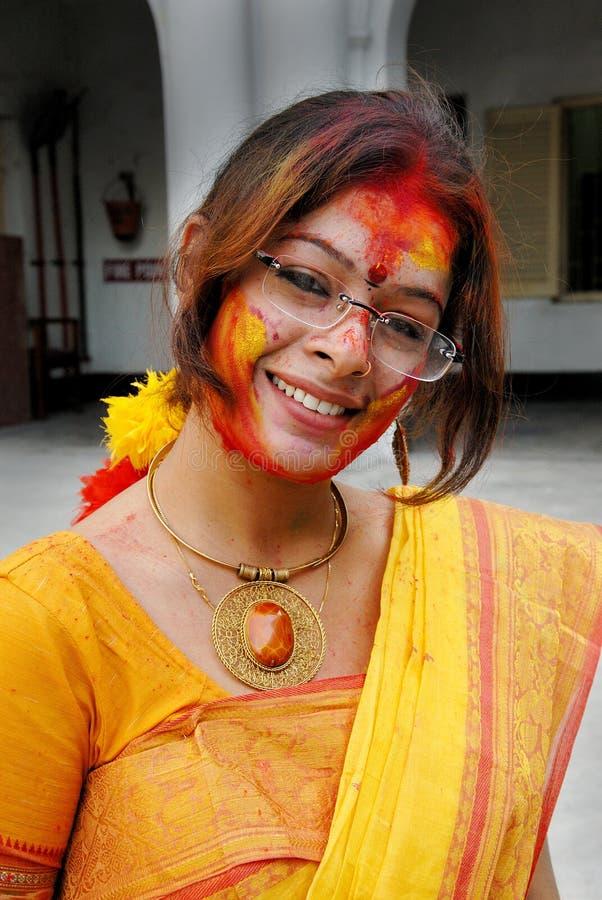 Festival de Holi de couleurs images stock