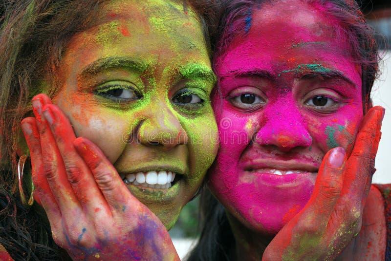 Festival de Holi del color fotografía de archivo