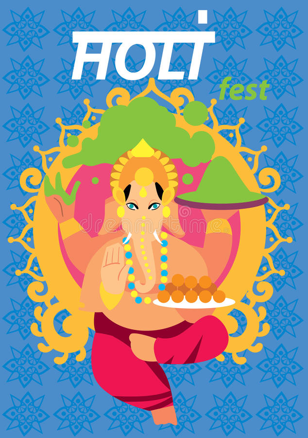 Festival de Holi, ejemplo del vector libre illustration