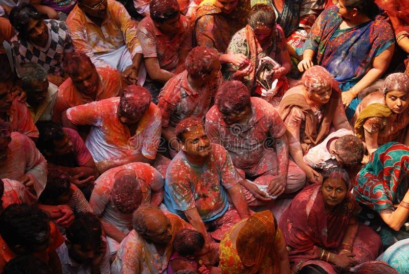 Festival de Holi em India imagens de stock