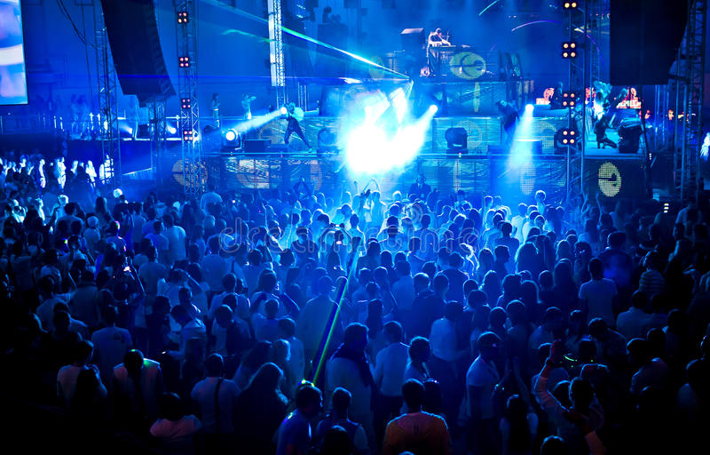 Festival de Ibiza da amnésia da febre do ouro em Moscovo fotos de stock