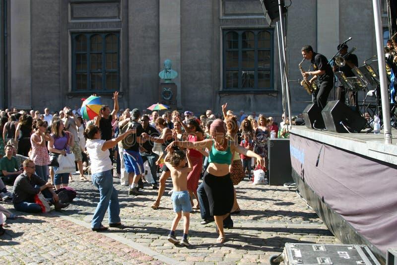 Festival de jazz de Copenhague image libre de droits