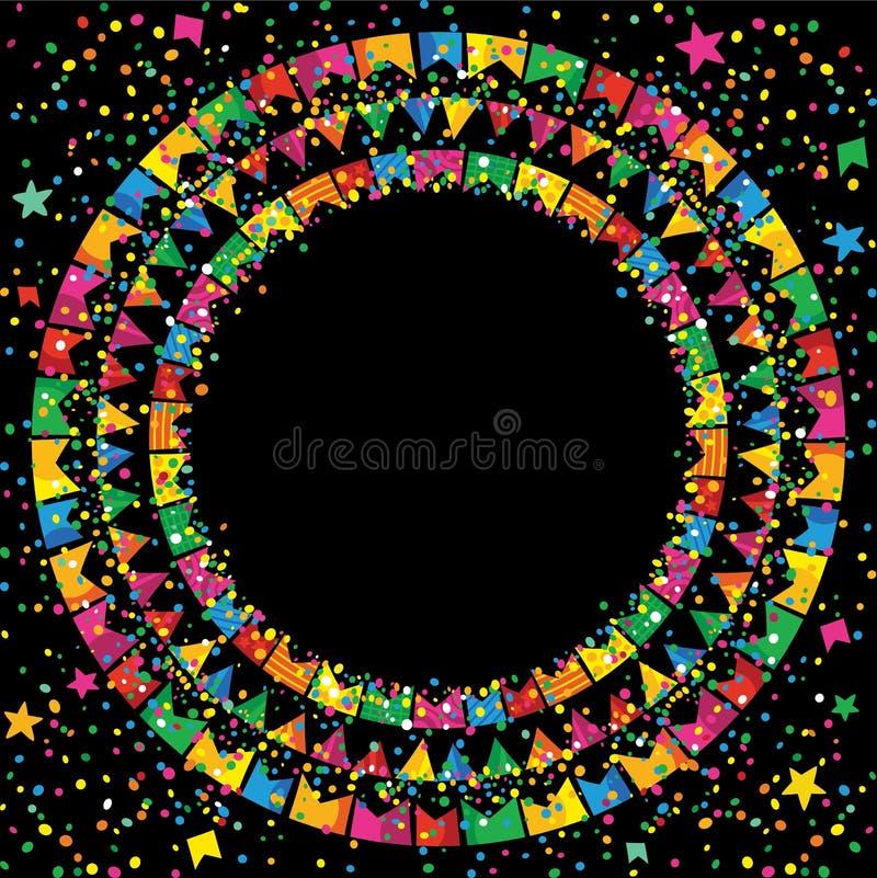 Festival de juin à un arrière-plan coloré la nuit illustration de vecteur