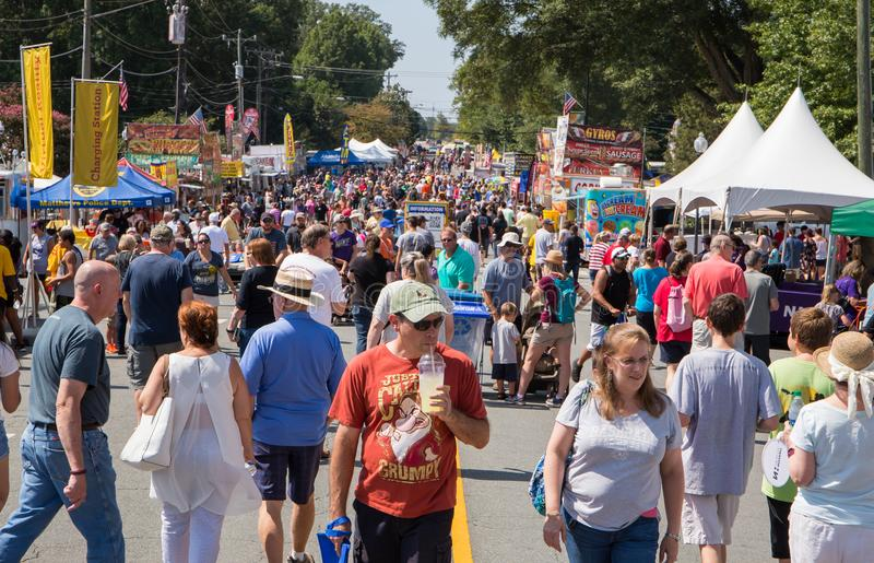 Festival de la calle de la comunidad fotografía de archivo