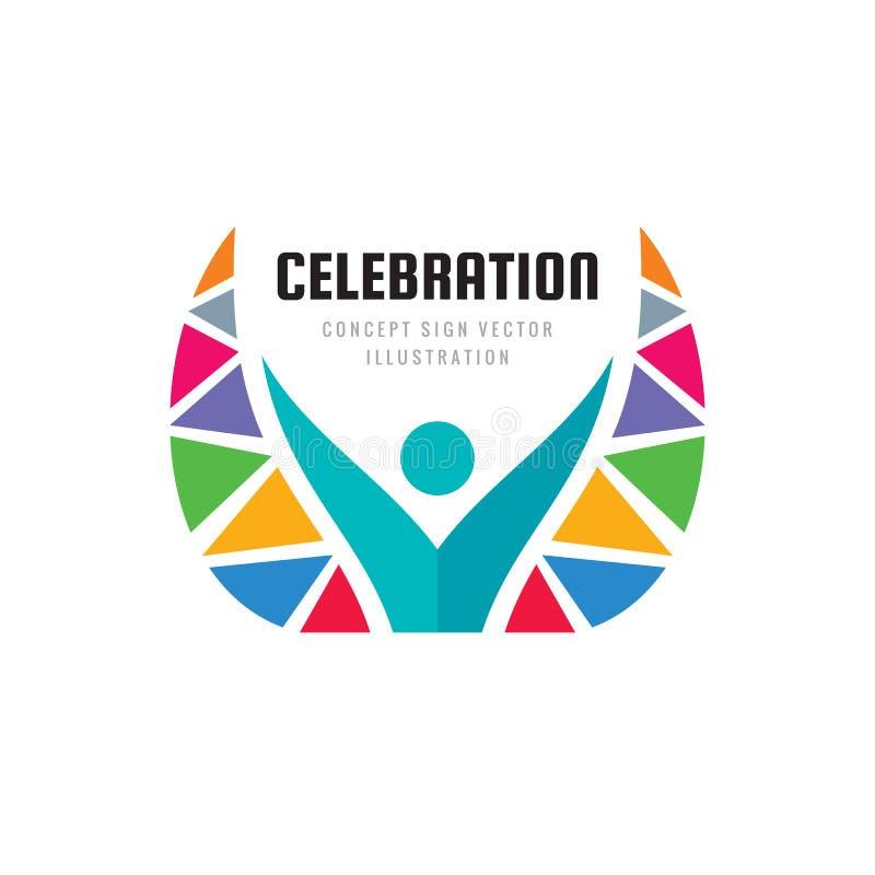 Festival de la celebración - ejemplo del vector de la plantilla del logotipo del negocio del concepto Muestra creativa del caráct ilustración del vector