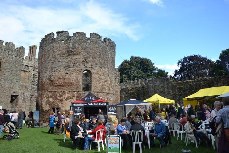 Festival de la comida de Ludlow imagen de archivo