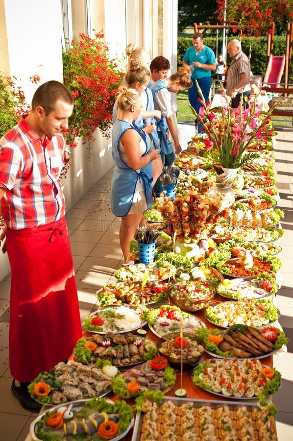 Festival de la comida del hotel del verano fotografía de archivo