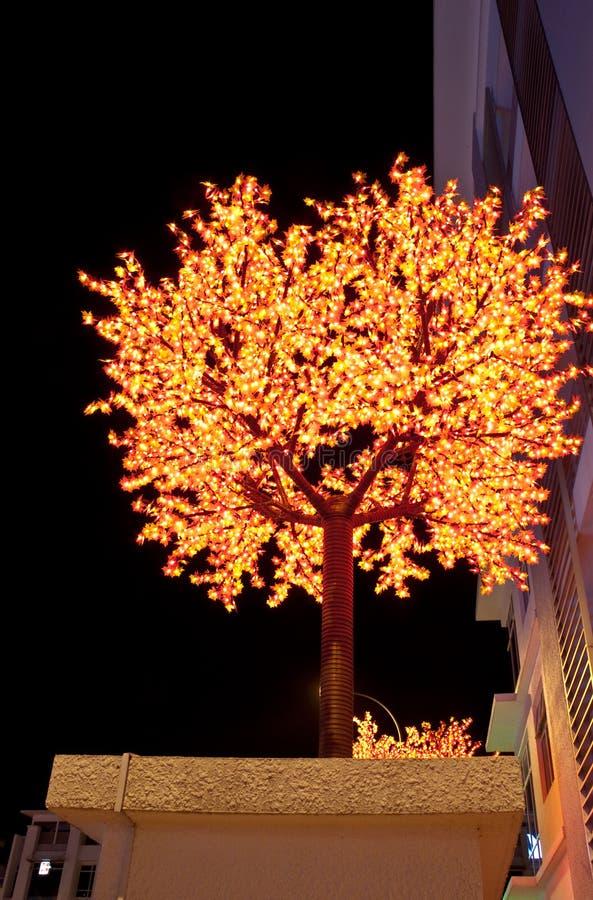 Festival de la decoración del árbol del LED fotografía de archivo