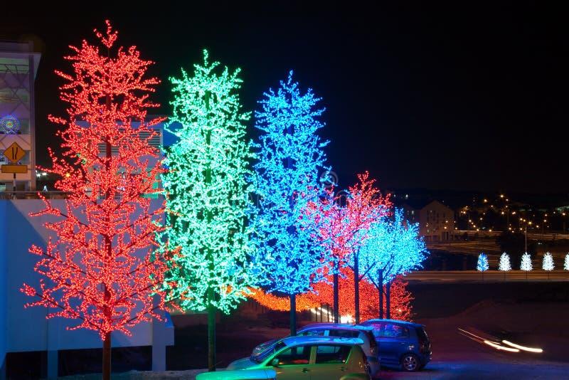 Festival de la decoración del árbol del LED foto de archivo
