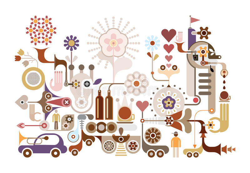 Festival de la flor - ejemplo del vector libre illustration