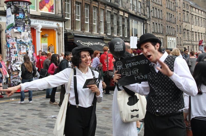 Festival 2013 de la franja de Edimburgo imagenes de archivo