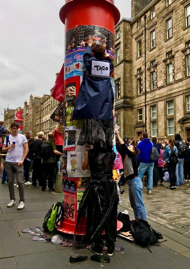 Festival de la franja de Edimburgo imagenes de archivo