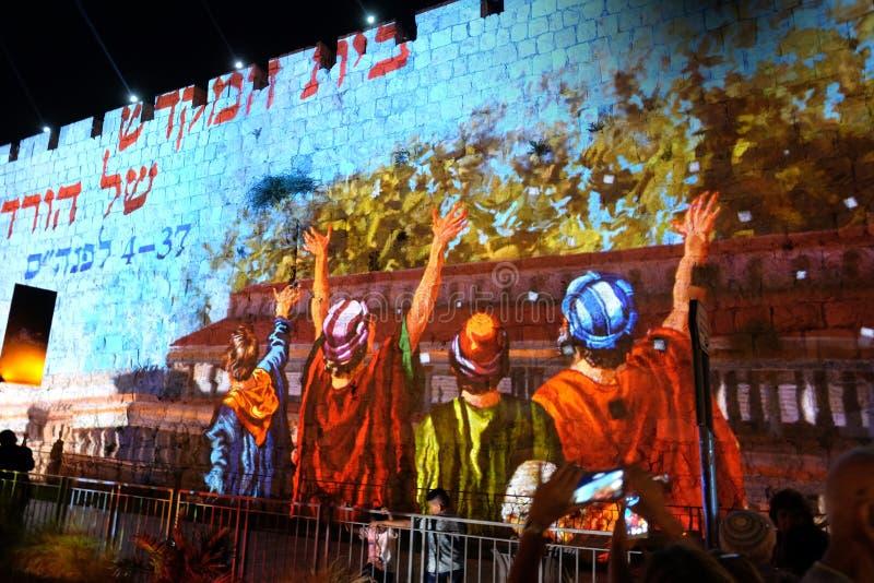 Festival de la lumière 2017 à Jérusalem photo stock