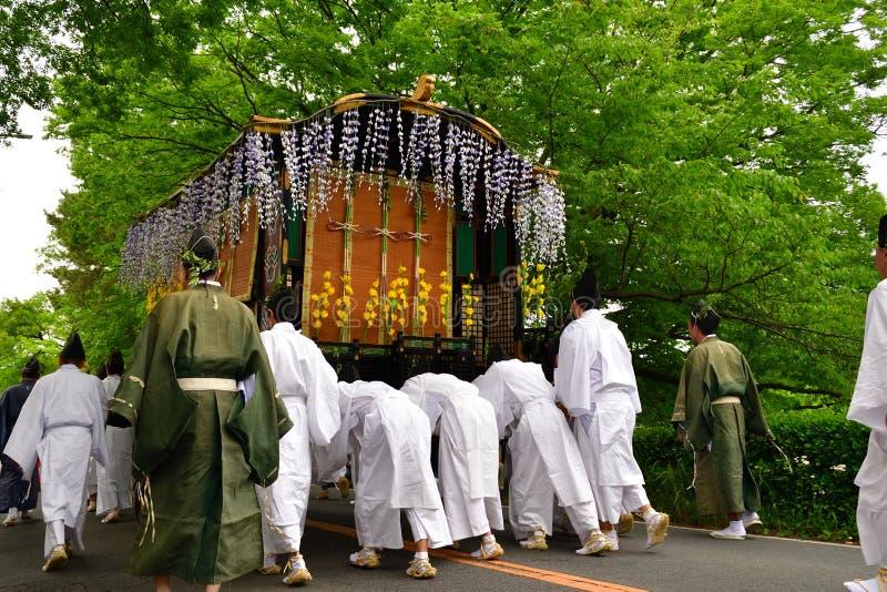Festival de la malvarrosa-matsuri de Aoi, Kyoto Japón imagen de archivo