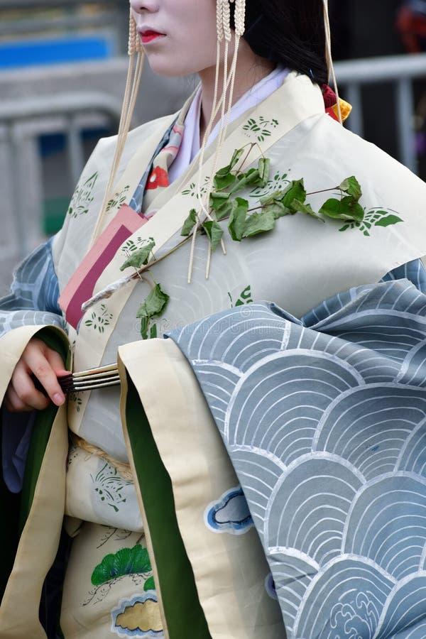 Festival de la malvarrosa-matsuri de Aoi, Kyoto Japón foto de archivo