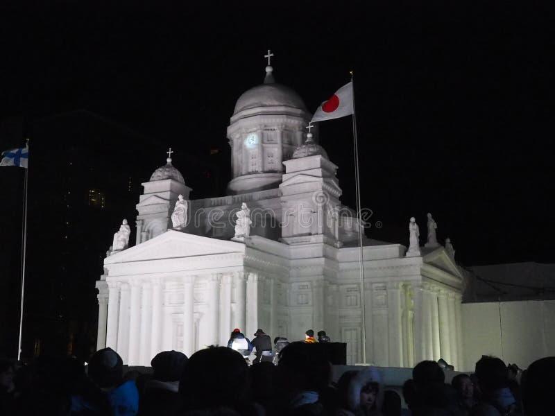 Festival de la nieve en Sapporo imagen de archivo