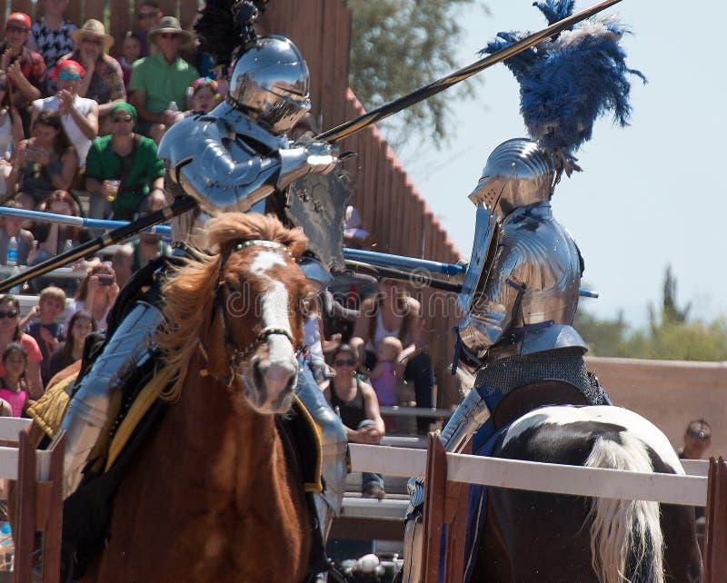 Festival de la Renaissance de l'Arizona joutant images libres de droits