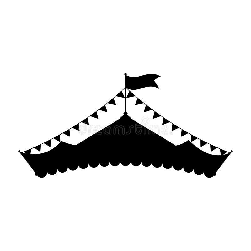 Festival de la tienda de circo stock de ilustración