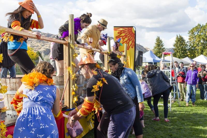 Festival de la uva Oliver Okanagan Valley imagenes de archivo
