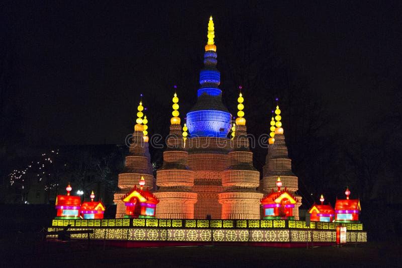 Festival de lanterna chinês de Vancôver no PNE fotografia de stock