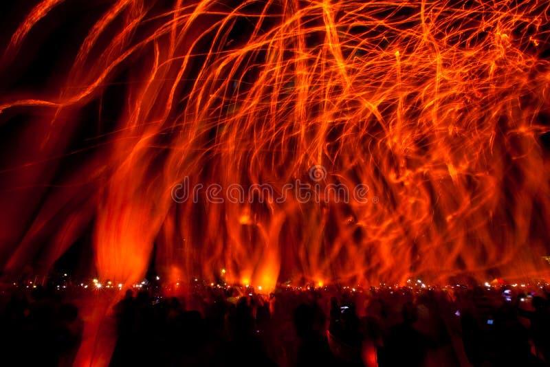 Festival de lanterna do céu fotografia de stock