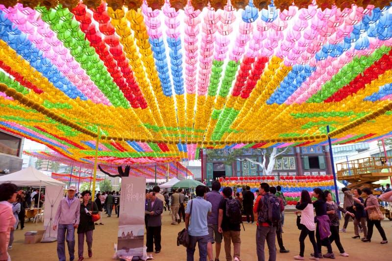Festival de lanterna dos lótus de Coreia imagem de stock royalty free