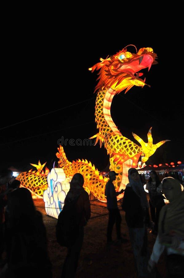 Festival de lanterna em Indonésia imagem de stock royalty free