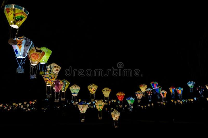Festival de lanterna em Taitung, Taiwan fotografia de stock