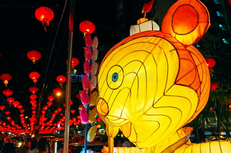 Festival de lanterna em Yangon, Myanmar foto de stock royalty free