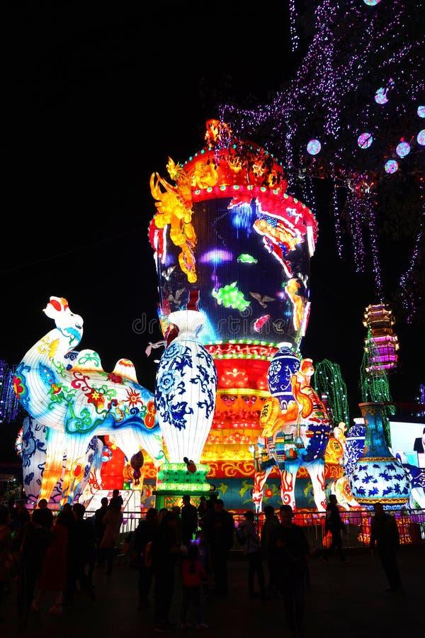 Festival de lanterna no ¼ Œ Sichuan de Zigongï fotografia de stock