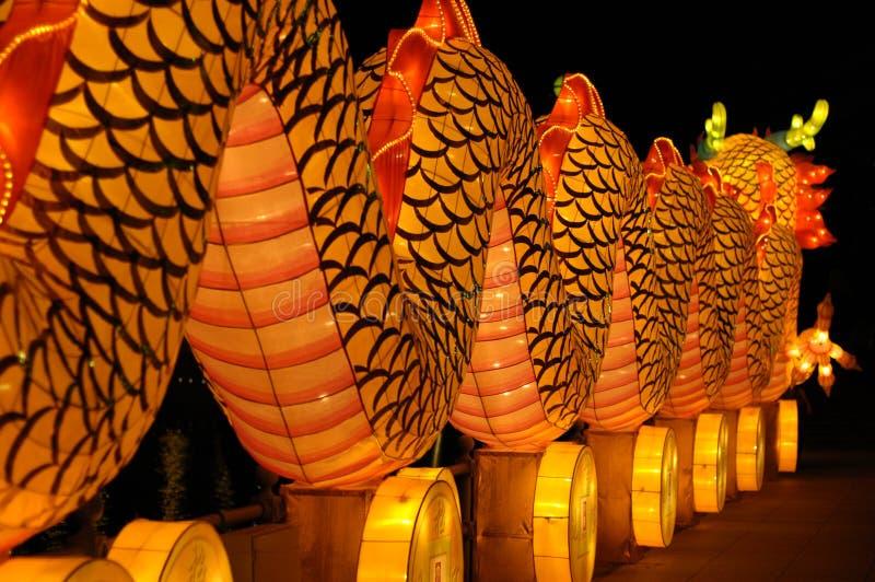 Festival de lanterne à Singapour, dragon photographie stock