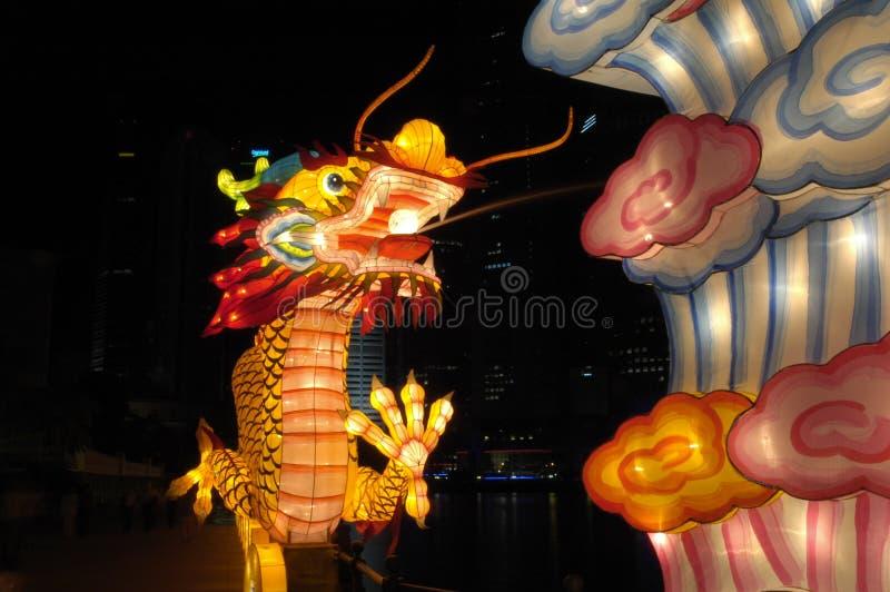 Festival de lanterne à Singapour, dragon photo stock