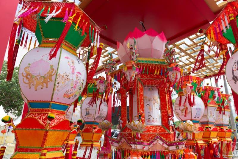 Festival de lanterne de ressort en Hong Kong photographie stock