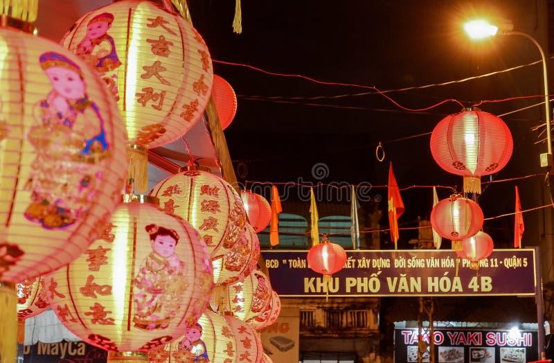 Festival de las linternas a mediados de otoño en Saigon, Vietnam foto de archivo