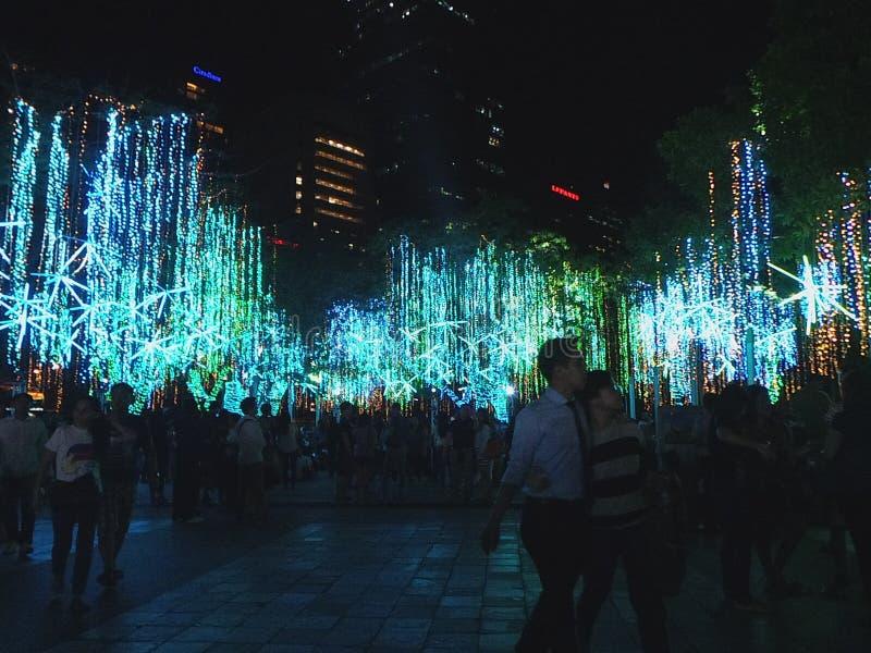 Festival de las luces de la Navidad fotografía de archivo libre de regalías
