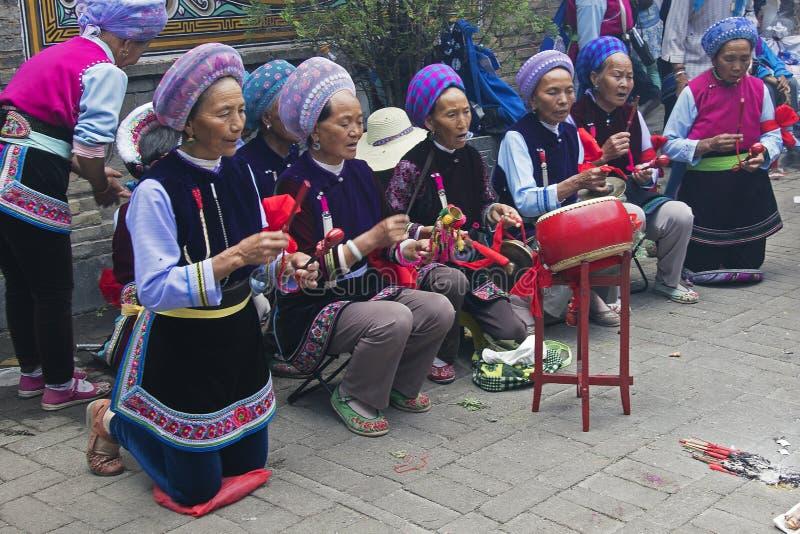 Festival de las minorías en Dali - Yunnan, China imagen de archivo