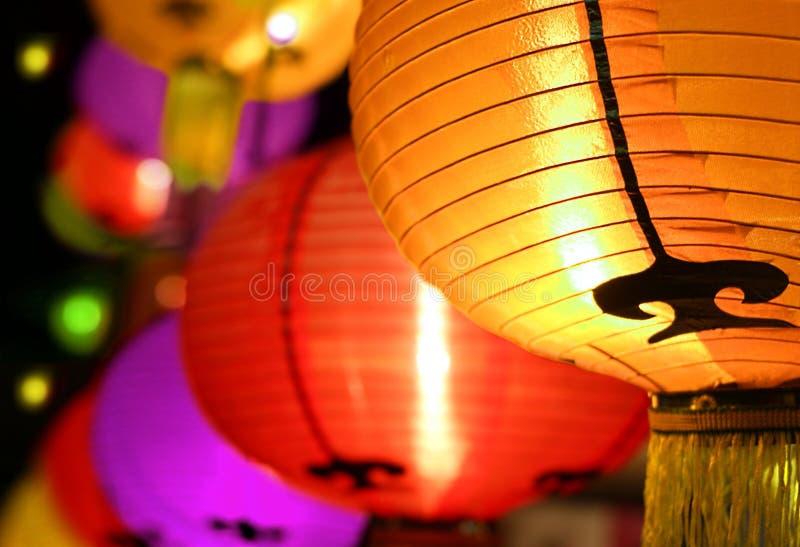 Festival de linterna colorido fotografía de archivo libre de regalías