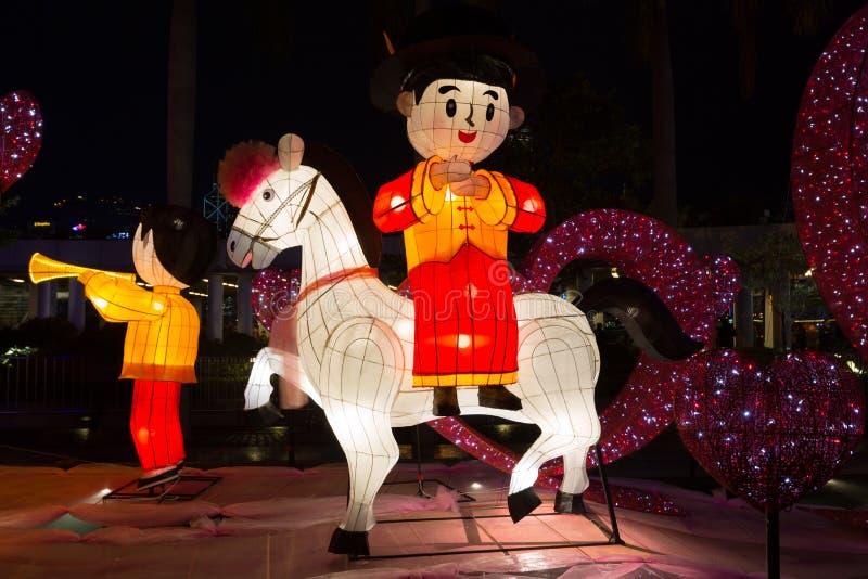 Festival de linterna de la primavera en Hong Kong imagen de archivo libre de regalías
